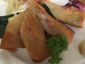 秋刀魚の梅肉春巻き2